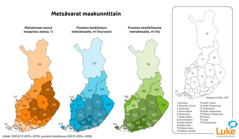 Suomen Pinta-Alasta Metsää